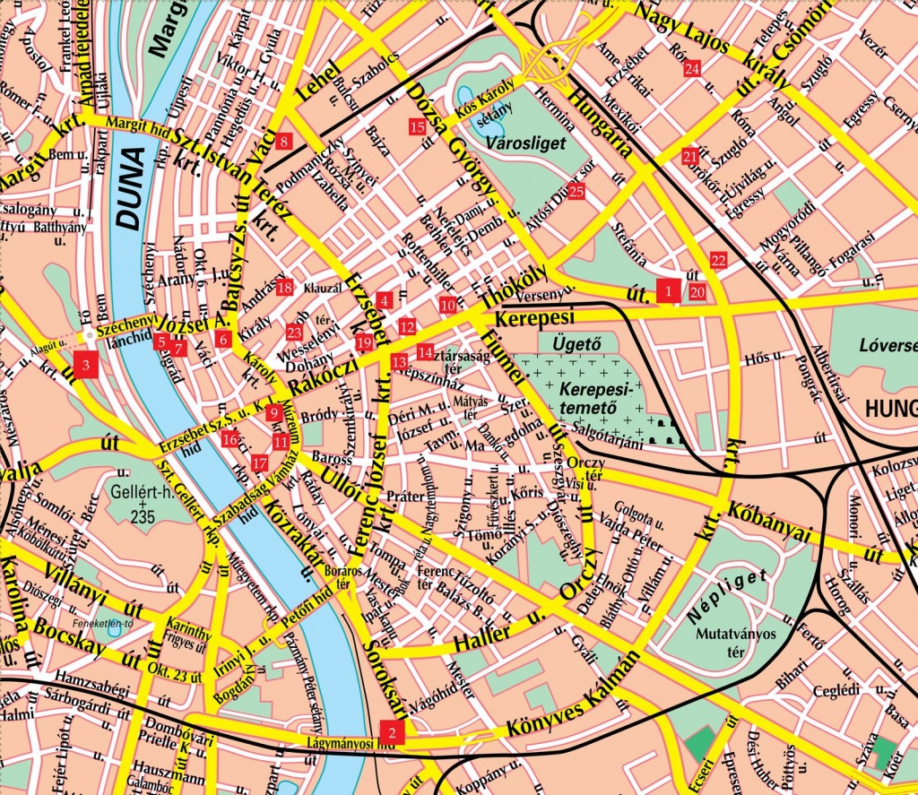 Hungary Attractions | Budapest Street Map See Map Details From - Budapest Street Map Printable