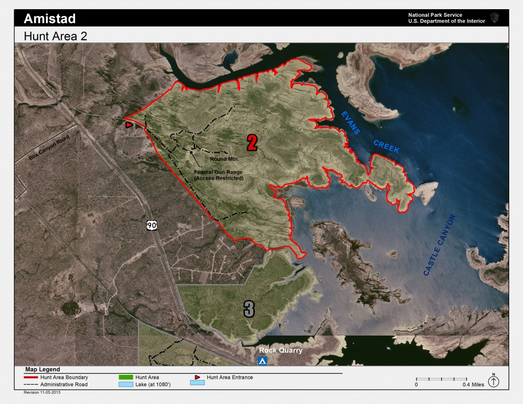 Hunting - Amistad National Recreation Area (U.s. National Park Service) - Texas Public Hunting Map