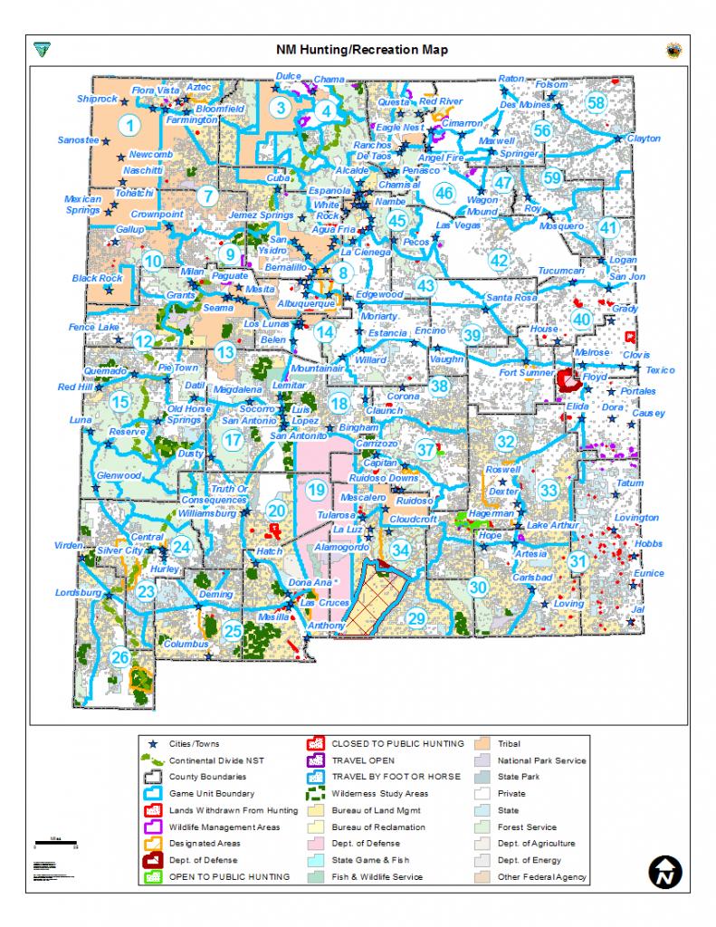 Hunting Unit Maps   Bureau Of Land Management - Printable Red Deer Map