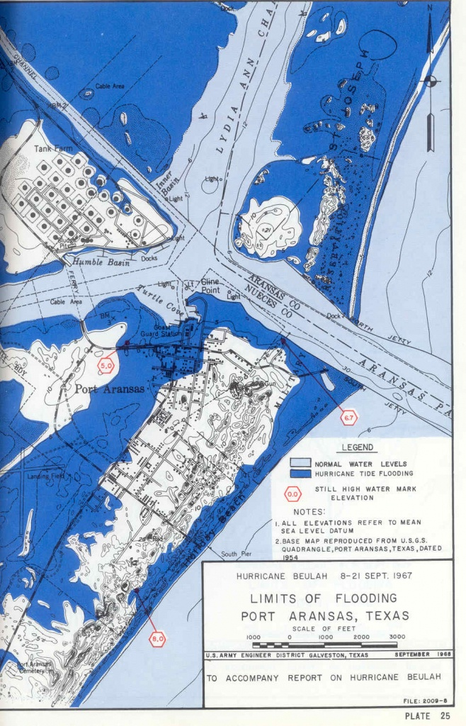 Hurricane Flood And Surge Maps - Google Maps Port Aransas Texas