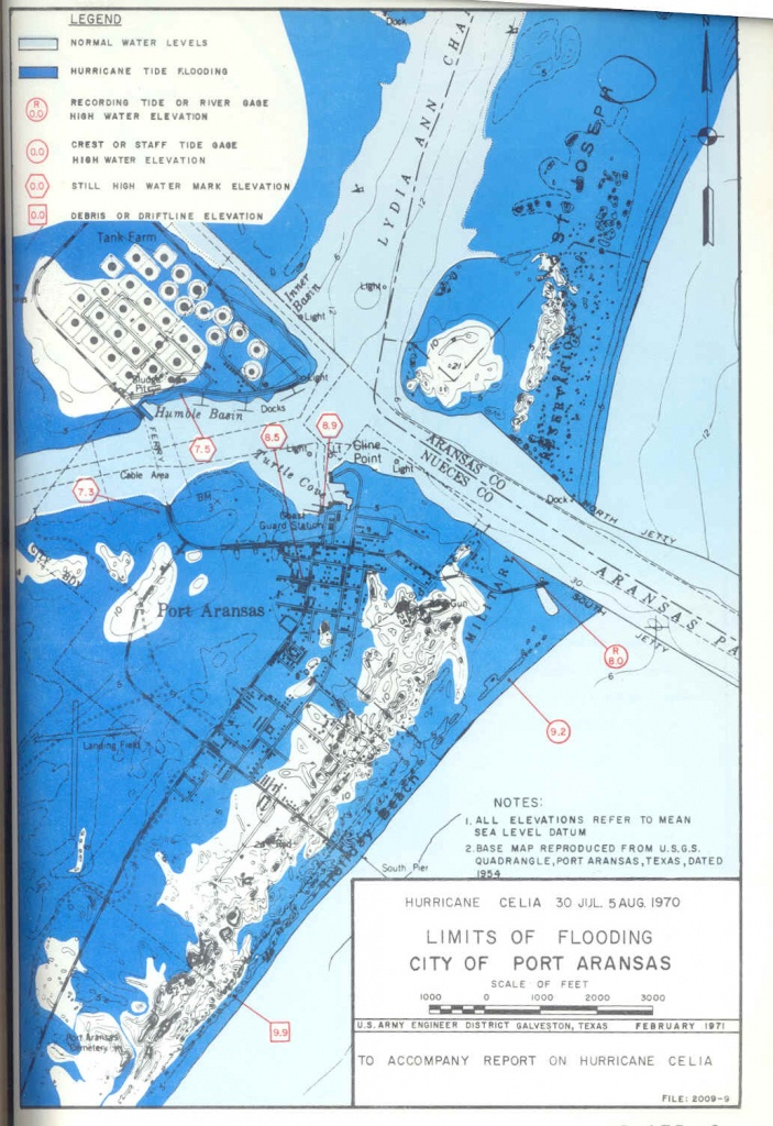 Hurricane Flood And Surge Maps - Map Of Port Aransas Texas Area
