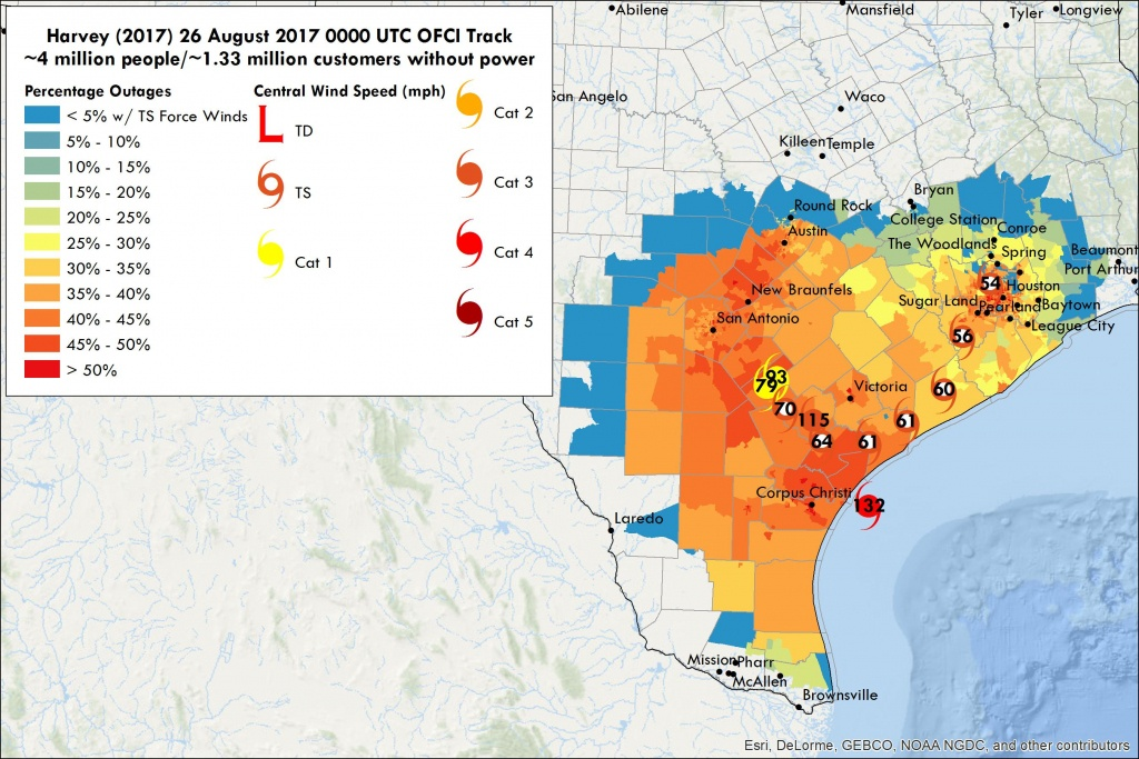 Hurricane Harvey Power Outages  Vehicle To Grid Uk - Power Outage Map Texas