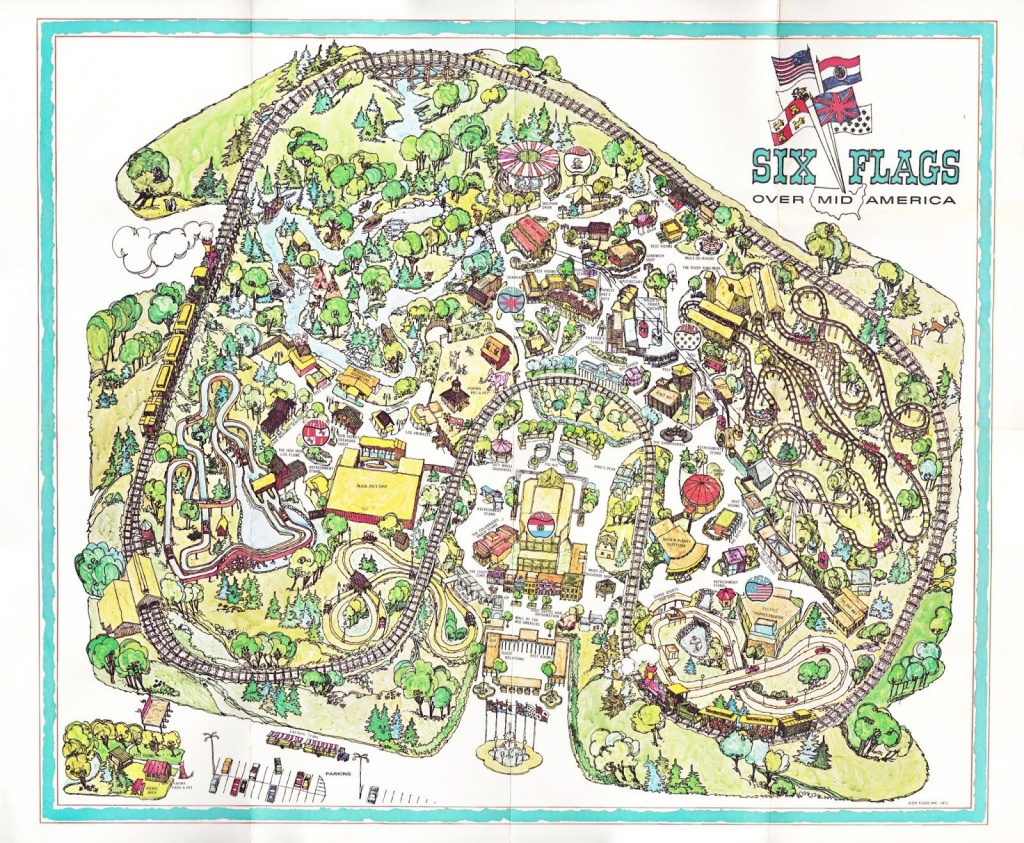 I Found This Inaugural Year Map From Six Flags Over Mid America At - Six Flags Over Texas Map App