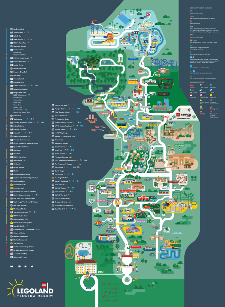 I Had The Opportunity To Revamp And Modernise The Map For Legoland - Legoland Map California Pdf