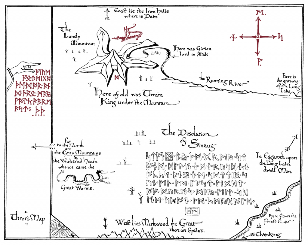 I Made A Printable Version Of Thror's Map.(X-Post From R/tolkienfans - Printable Lord Of The Rings Map