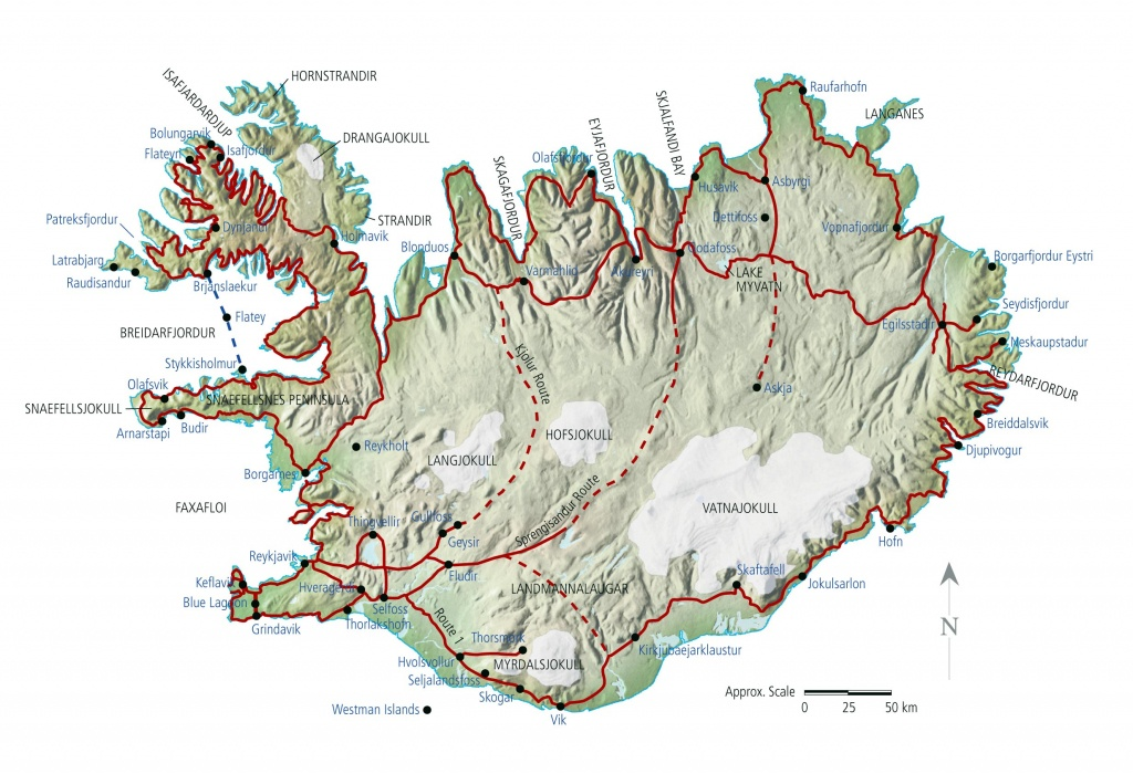 Iceland Maps   Printable Maps Of Iceland For Download - Free Printable Map Of Iceland