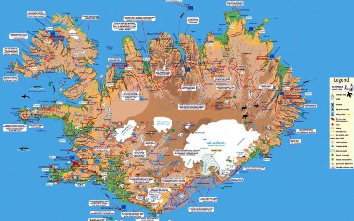 Printable Driving Map Of Iceland