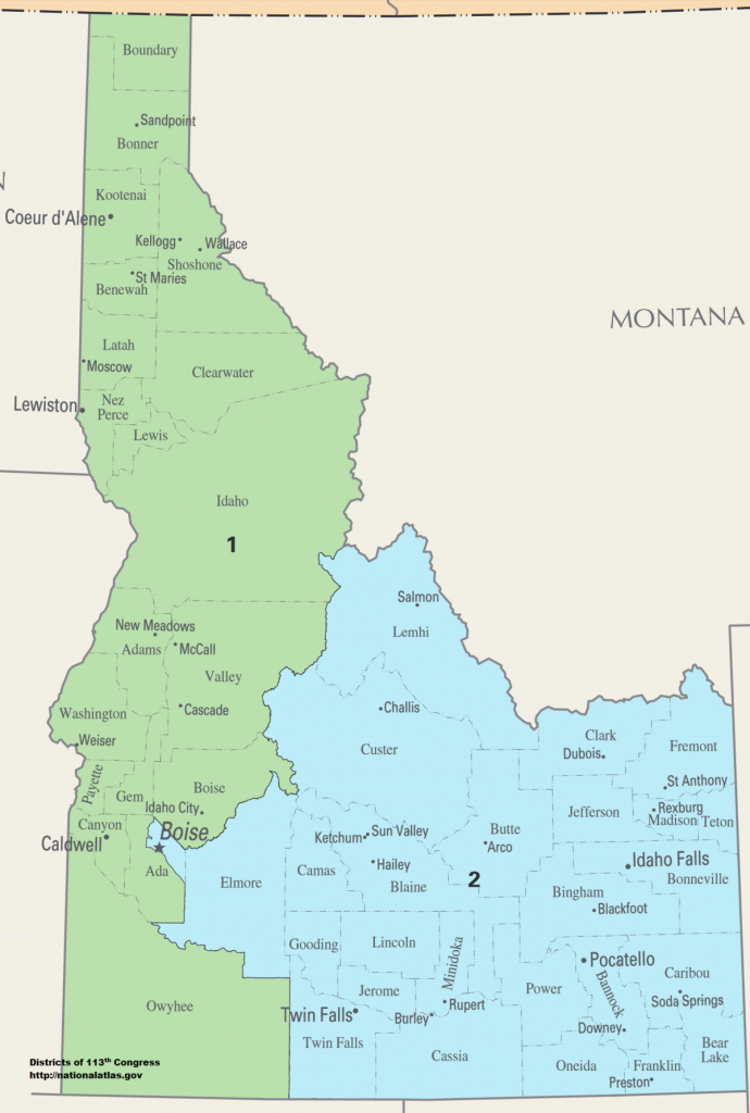 Idaho's Congressional Districts - Wikipedia - Texas 2Nd Congressional District Map