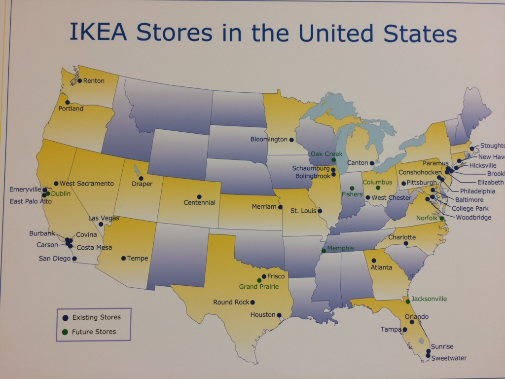 Ikea Usa Map | Woestenhoeve - Ikea Locations California Map