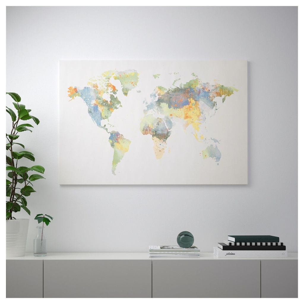 Ikea's 'our World' Björksta World Map Is Missing New Zealand - Ikea Locations California Map