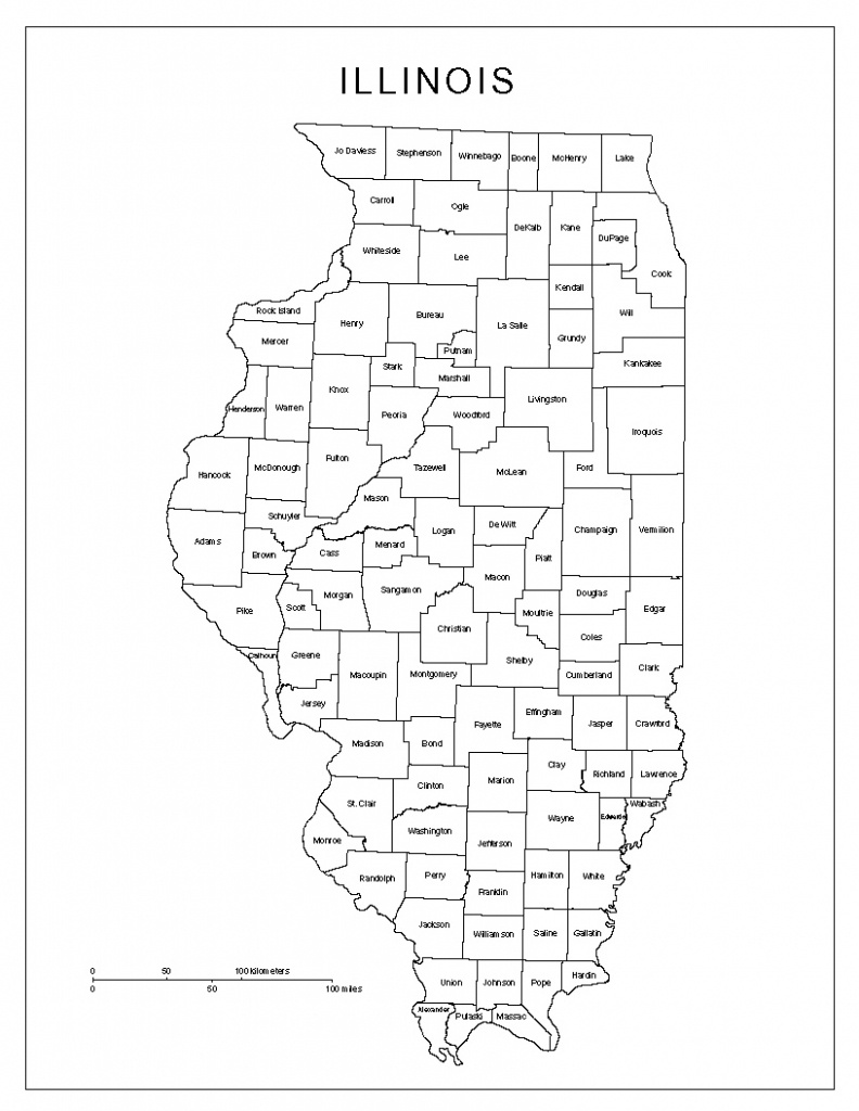 Illinois Labeled Map - Illinois County Map Printable