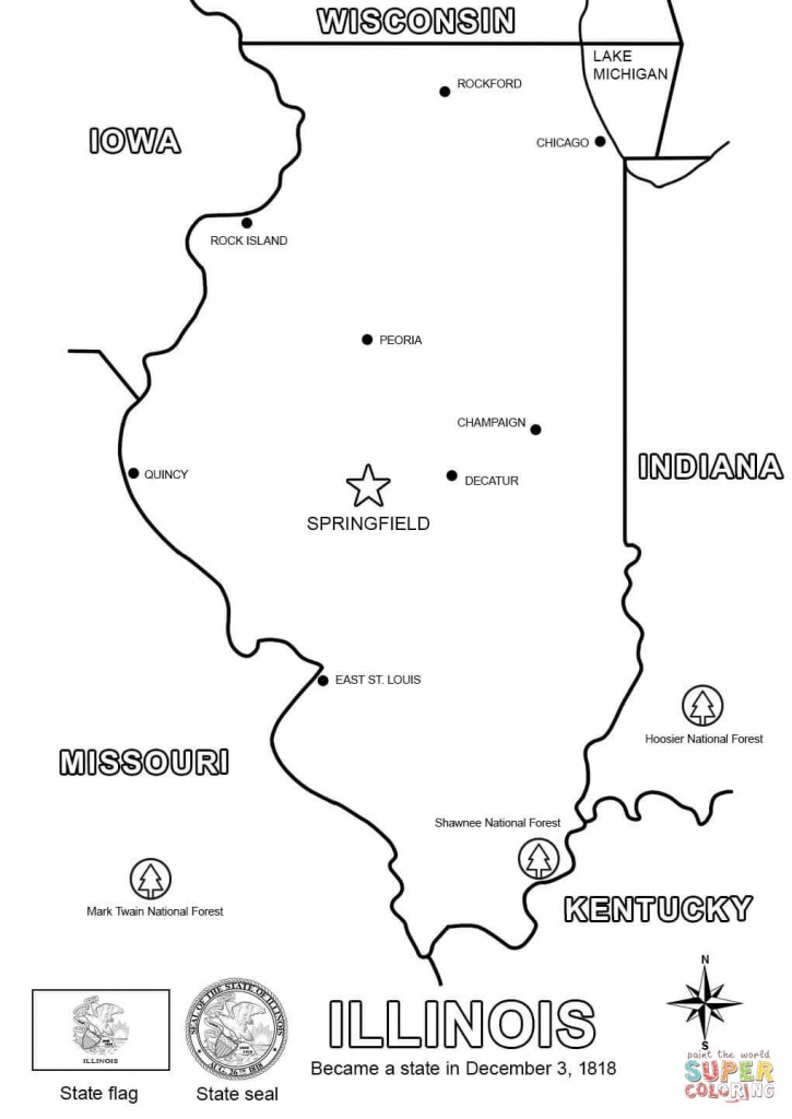 Illinois Map Coloring Page | Free Printable Coloring Pages - Illinois State Map Printable