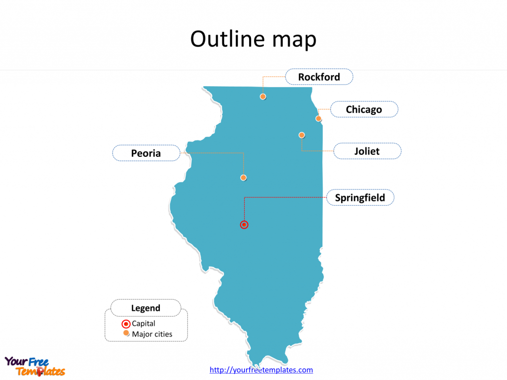 Illinois Map Powerpoint Templates - Free Powerpoint Templates - Printable Map Of Rockford Il