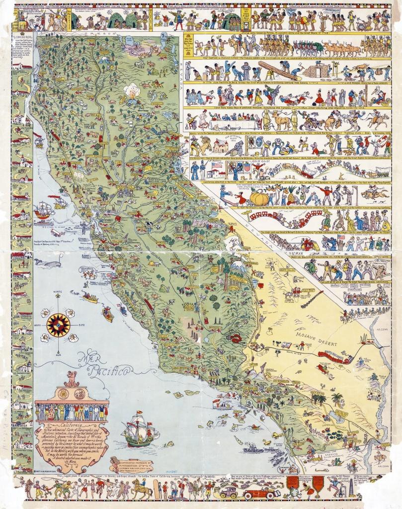 Illustrated Tourist Map Of California, San Jose - 1927 - Stuff I - Illustrated Map Of California