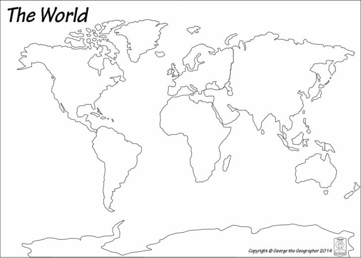 Black And White Printable World Map With Countries Labeled