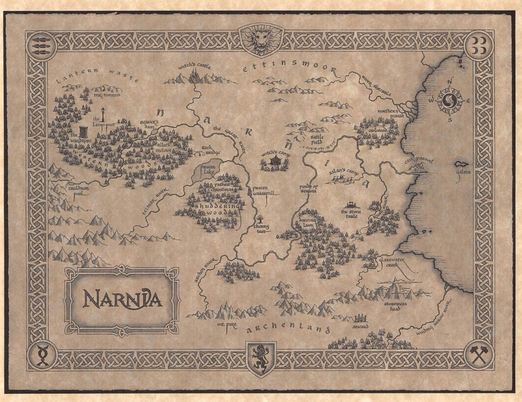 Image Result For Map Of Narnia Printable   Office In 2019   Map Of - Printable Map Of Narnia