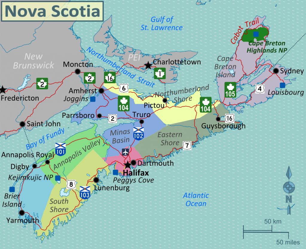 Image Result For Printable Map Of Nova Scotia | Vacations In 2019 - Printable Map Of Nova Scotia Canada