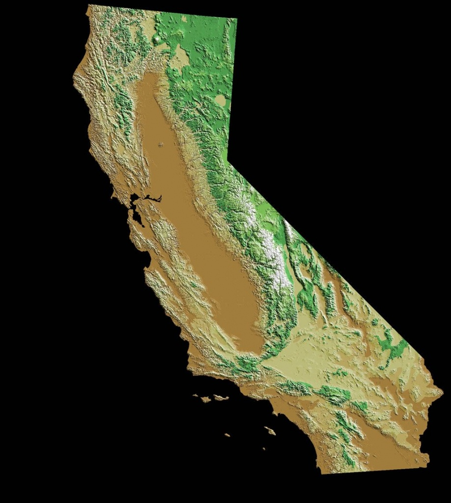 Image Result For Topographic Map California | Topography - California Topographic Map