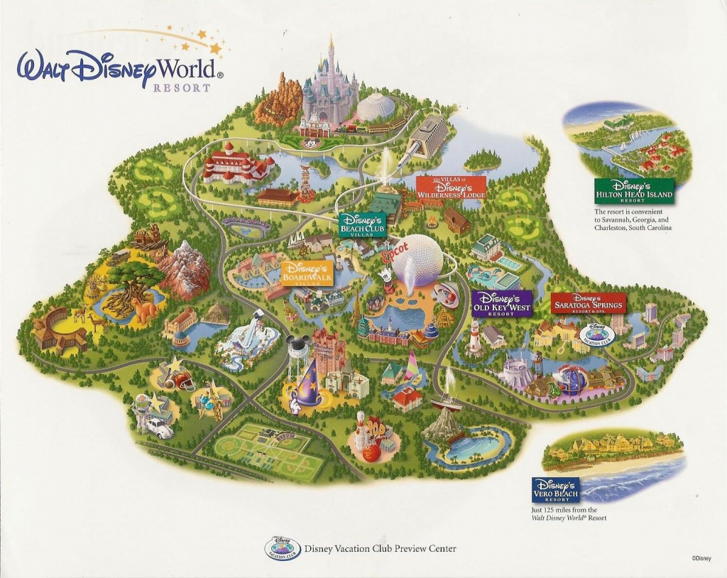 Images Of Disneyworld Map | Disney Vacation Club At Walt Disney - Disney Resorts Florida Map