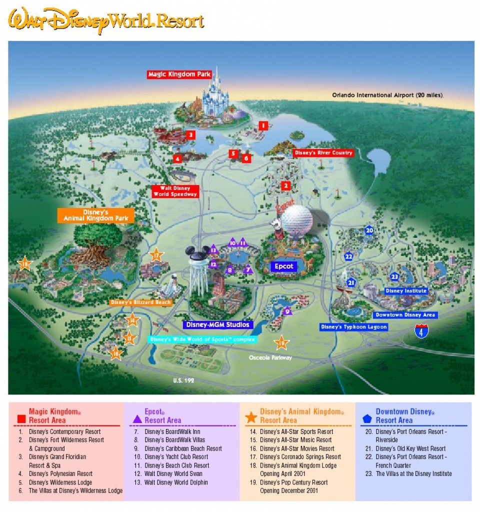 Images Of Disneyworld Map | Map Of Disney World Parks | A Traveling - Map Of Disney World In Florida