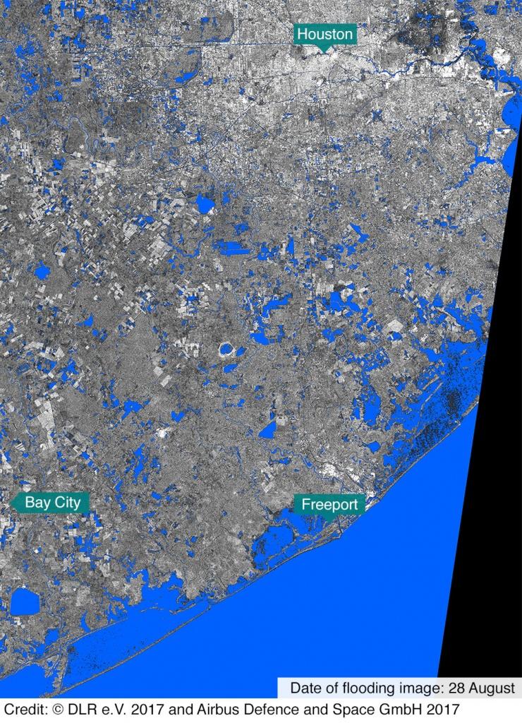 In Maps: Houston And Texas Flooding - Bbc News - Houston Texas Flood Map