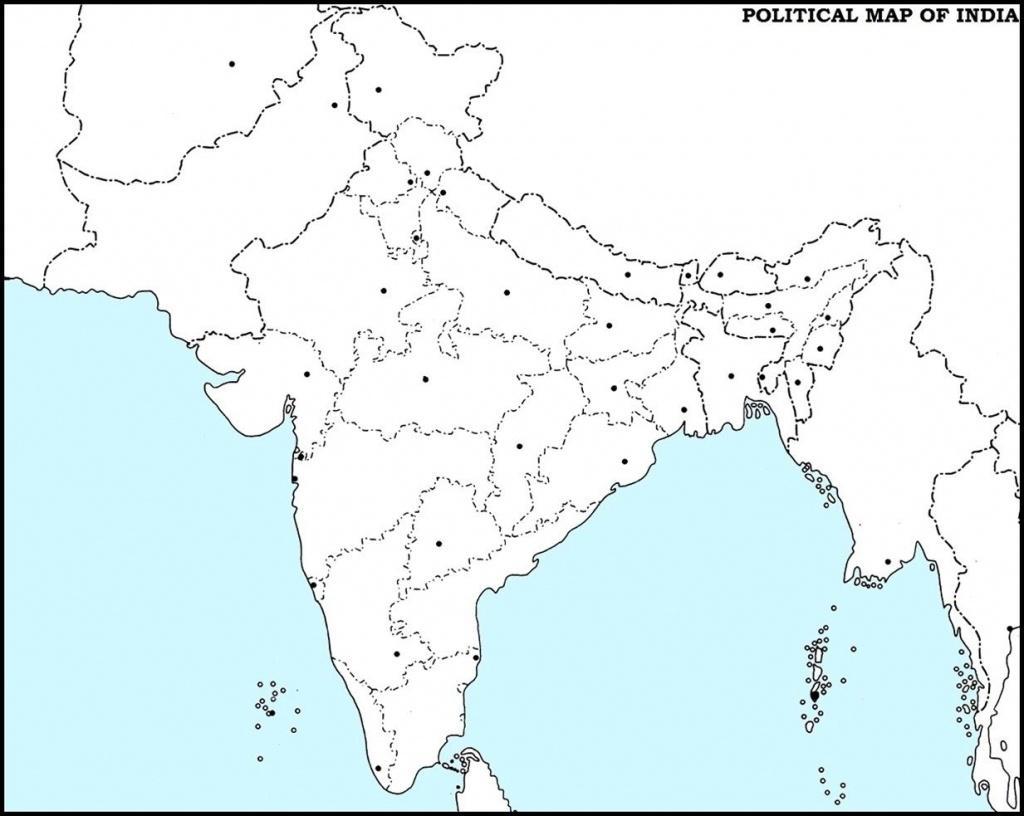 India Outline Map Pdf   Dehazelmuis - India Outline Map A4 Size Printable