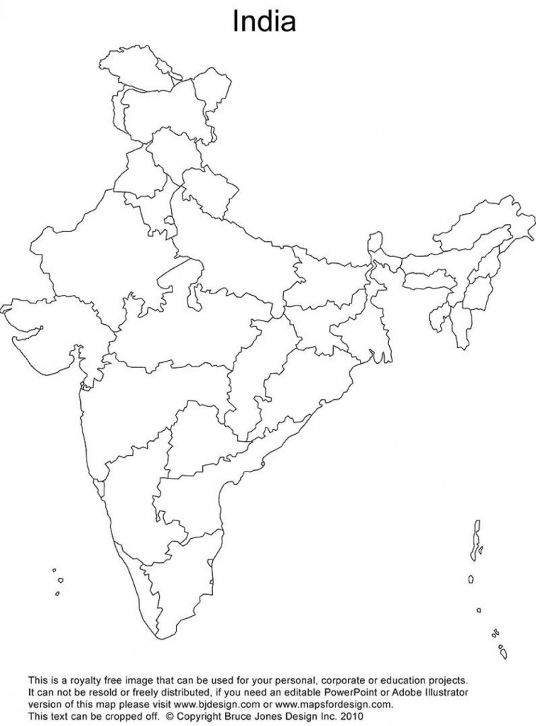 India Outline Map Printable | Rivers Of India | India Map, India - Physical Map Of India Printable