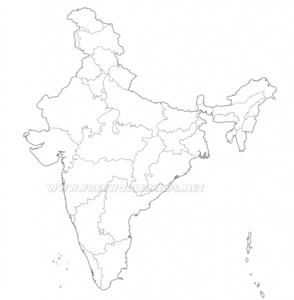 India Political Map - Political Outline Map Of India Printable