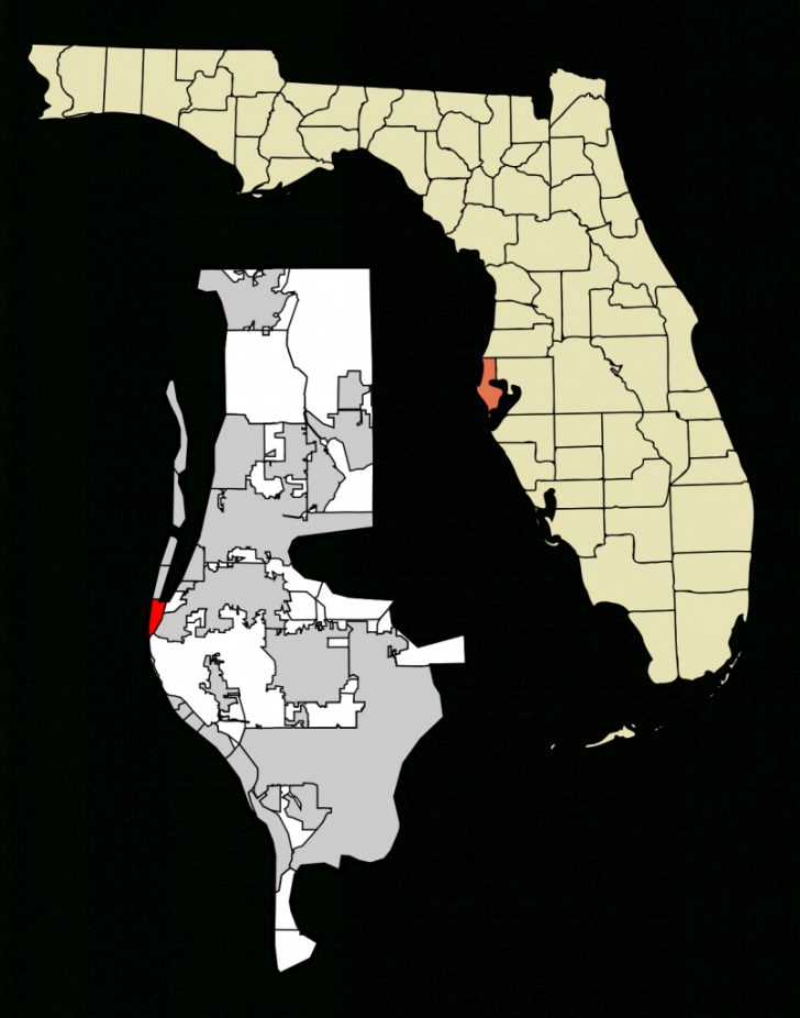 Indian Beach Florida Map