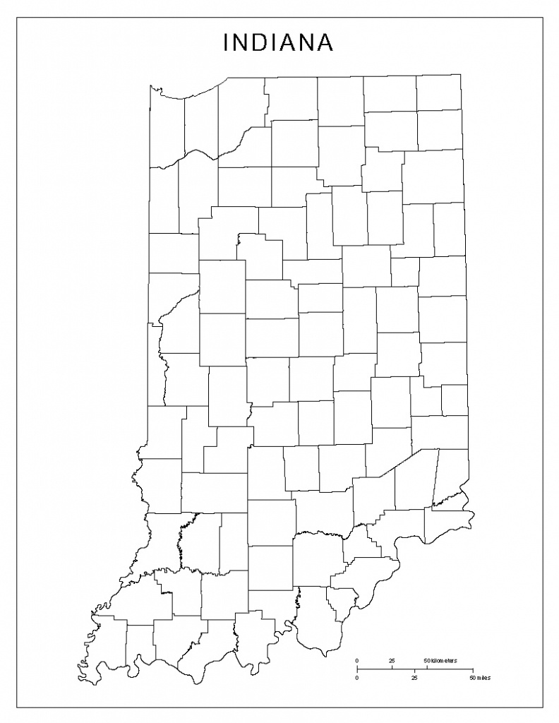 Indiana Blank Map - Indiana County Map Printable
