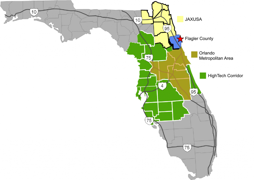 Industries - Flagler County Dept. Of Economic Opportunity - Florida High Tech Corridor Map