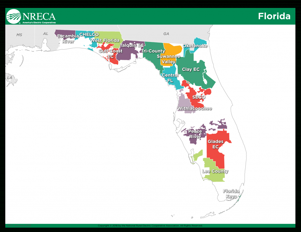 Information Hub: Electric Co-Ops And Michael - America's Electric - Duke Energy Transmission Lines Map Florida