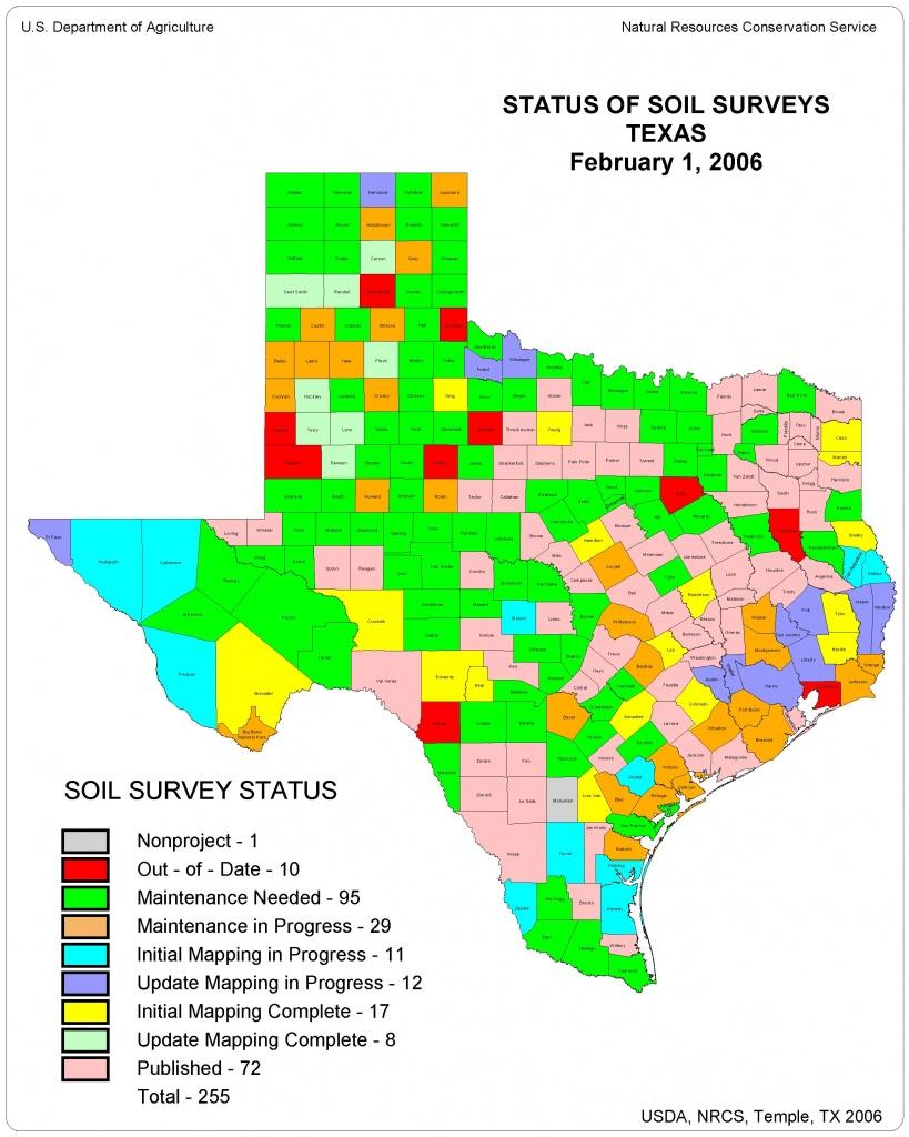 Information On Texas Soils - Texas Gis Map