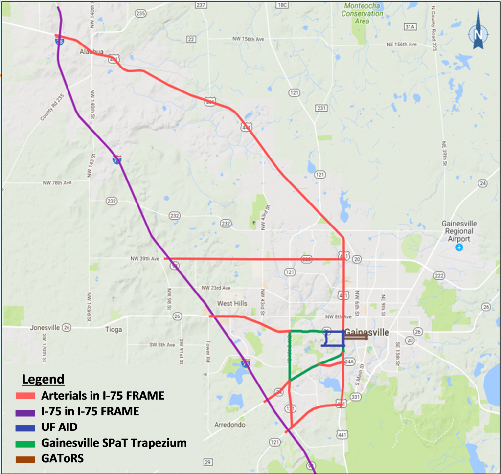 Infrastructure And Projects – University Of Florida Transportation - Where Is Gainesville Florida On The Map