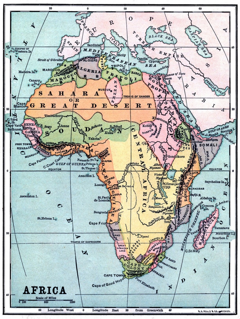 Instant Art Printable - Vintage Map Of Africa - The Graphics Fairy - Free Printable Vintage Maps