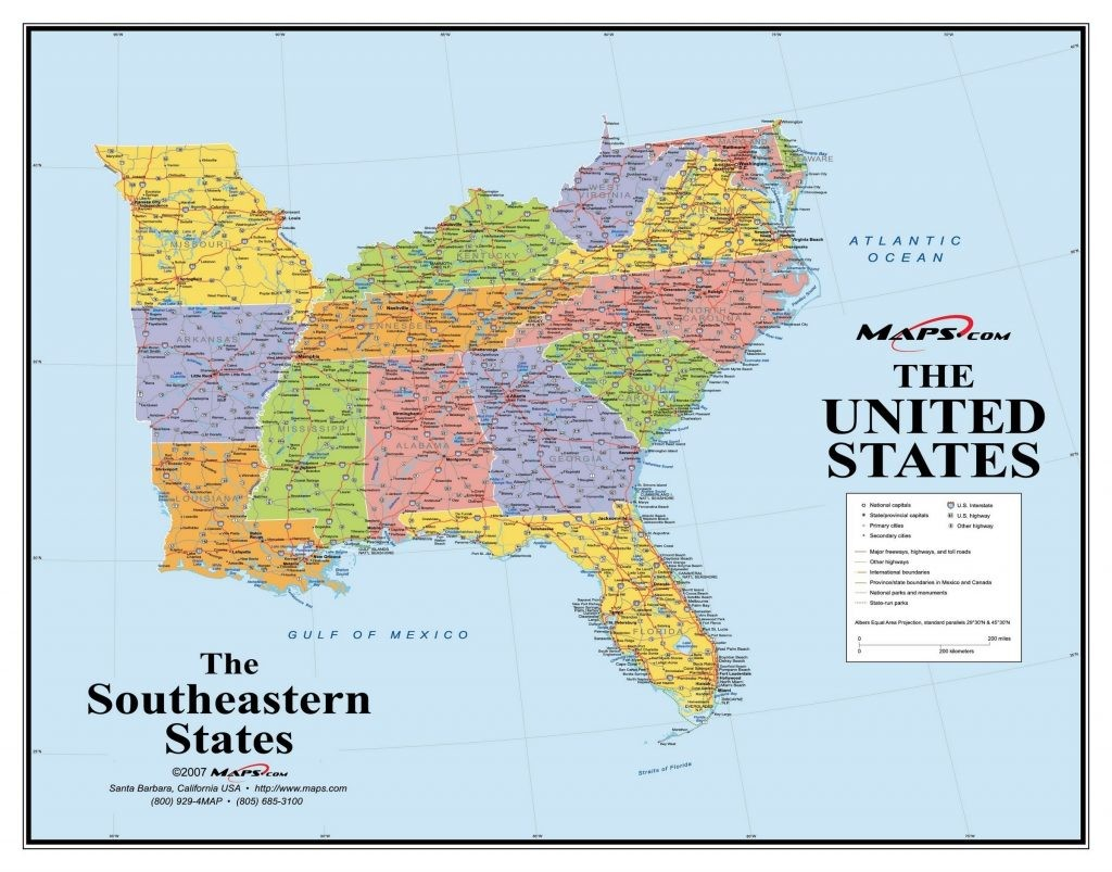 Interactive Map Of Southeastern United States | World Map - Printable Map Of Southeast United States