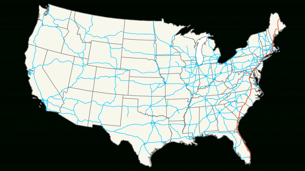 Interstate 95 - Simple English Wikipedia, The Free Encyclopedia - Map Of I 95 From Florida To New York