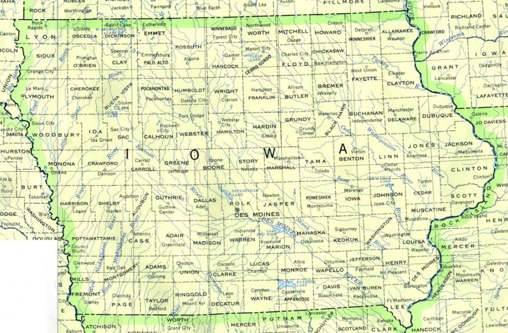 Iowa Base Map - Printable Map Of Des Moines Iowa