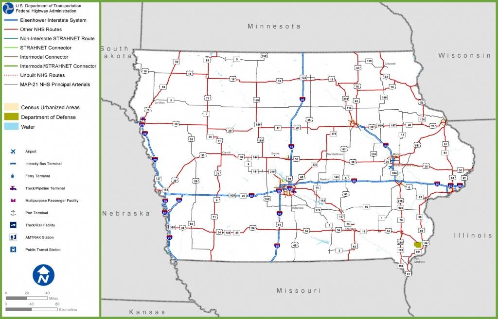 Iowa Road Map - Printable Iowa Road Map
