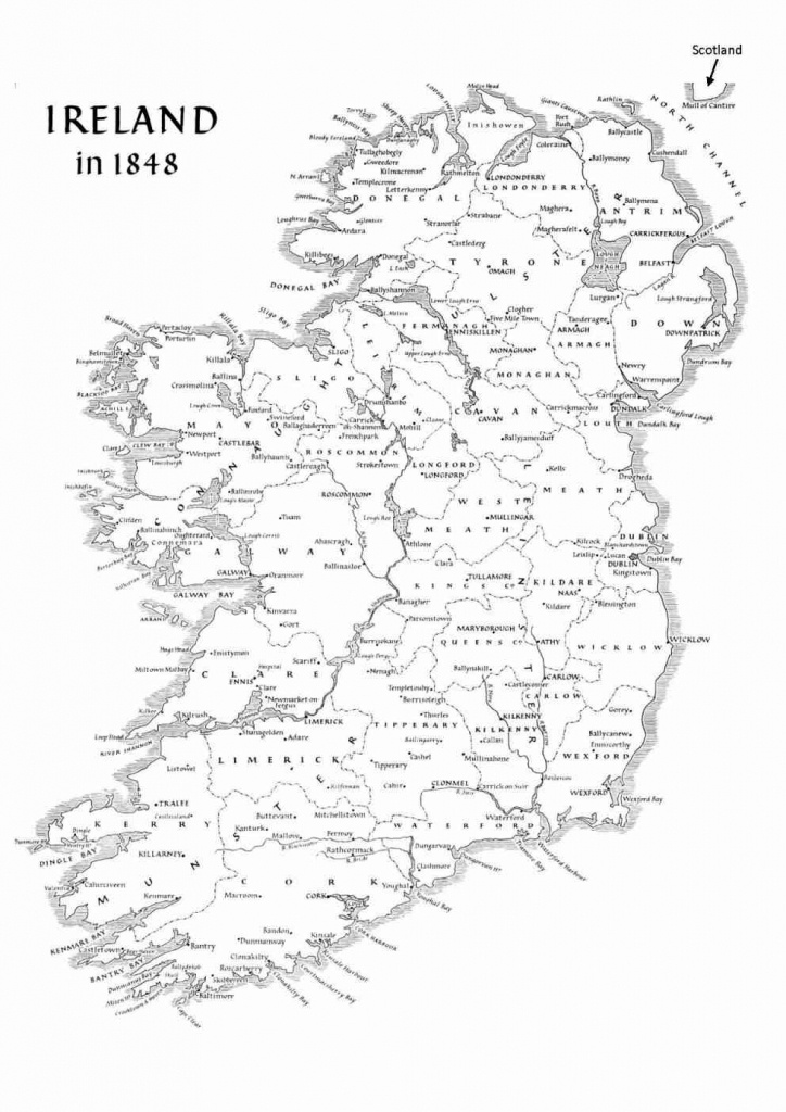 Ireland Geography - Basic Facts About The Island - Printable Black And White Map Of Ireland