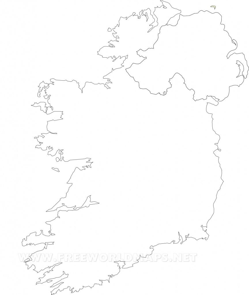 Ireland Political Map - Printable Blank Map Of Ireland
