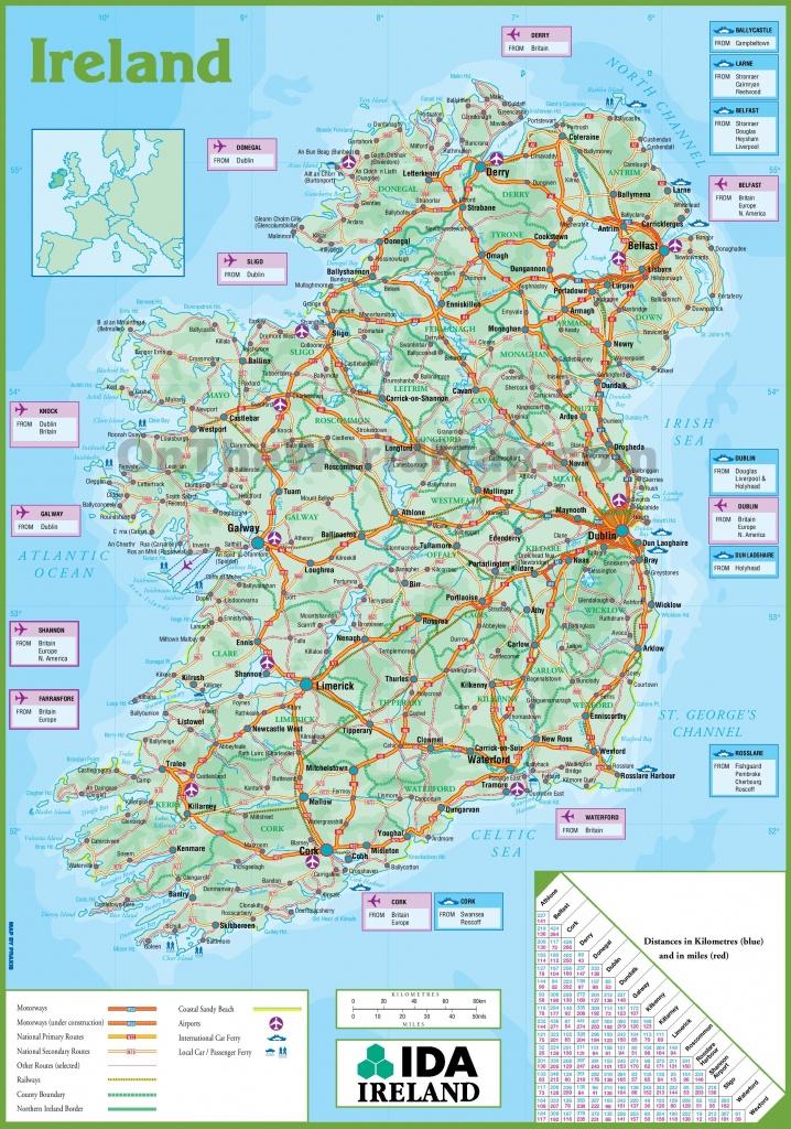 Ireland Road Map - Printable Road Map Of Ireland