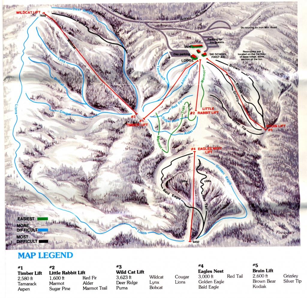 Iron Mountain - Skimap - Southern California Ski Resorts Map