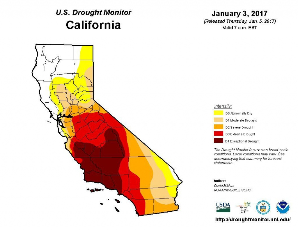 Is The Drought Over? | Sean Scully | Napavalleyregister - California Drought 2017 Map