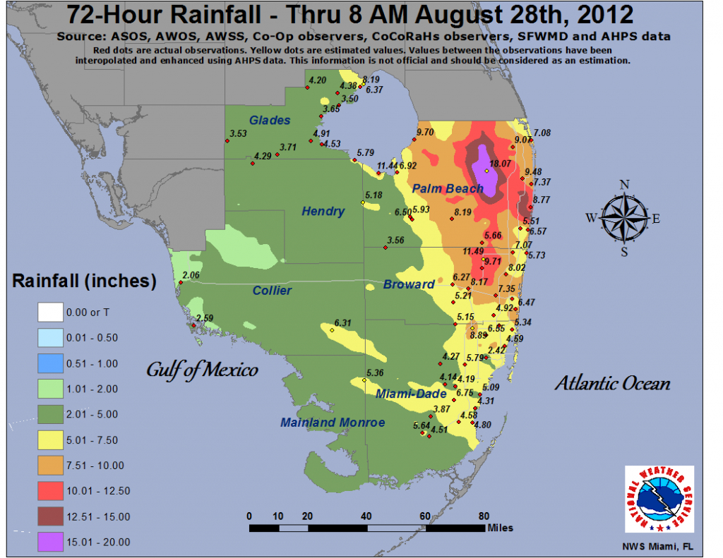 Isaac - South Florida Flood Map