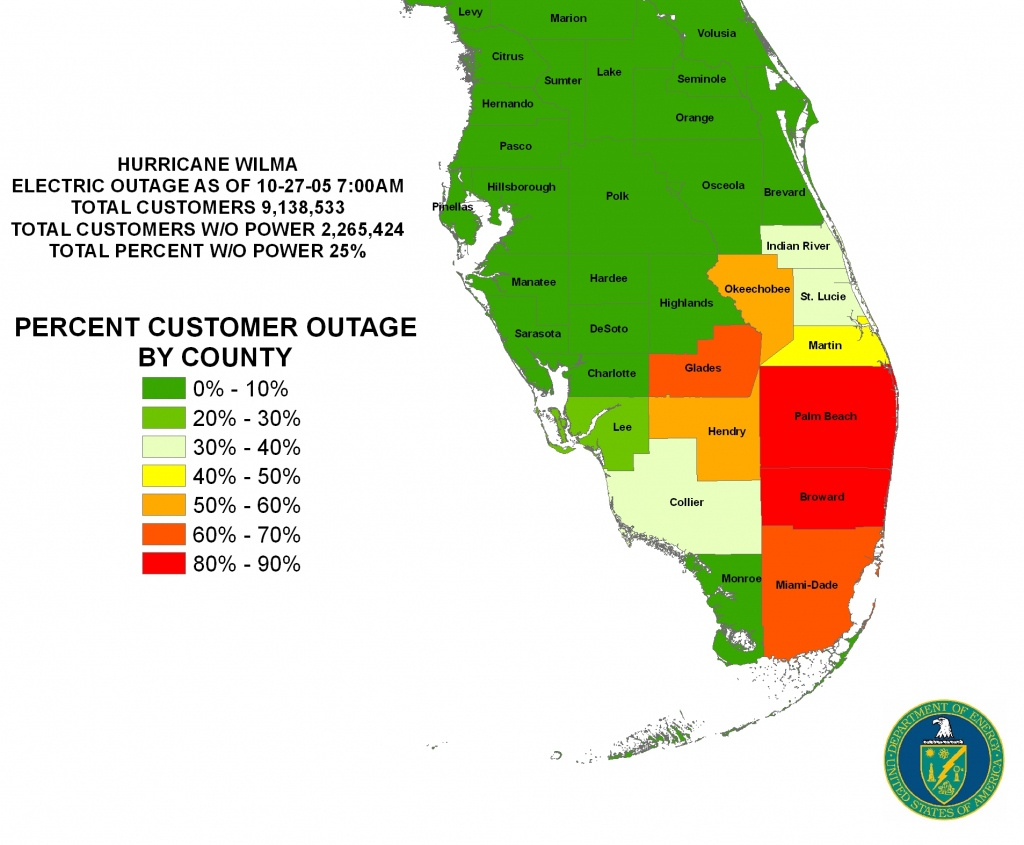 Iser - Gulf Coast Hurricanes - Florida Power Outage Map