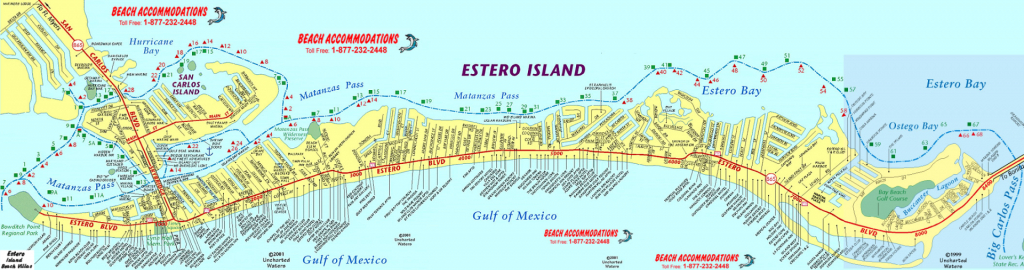 Island Map & Weather | Beach Accommodations Vacation Rentals | Fort - Estero Beach Florida Map