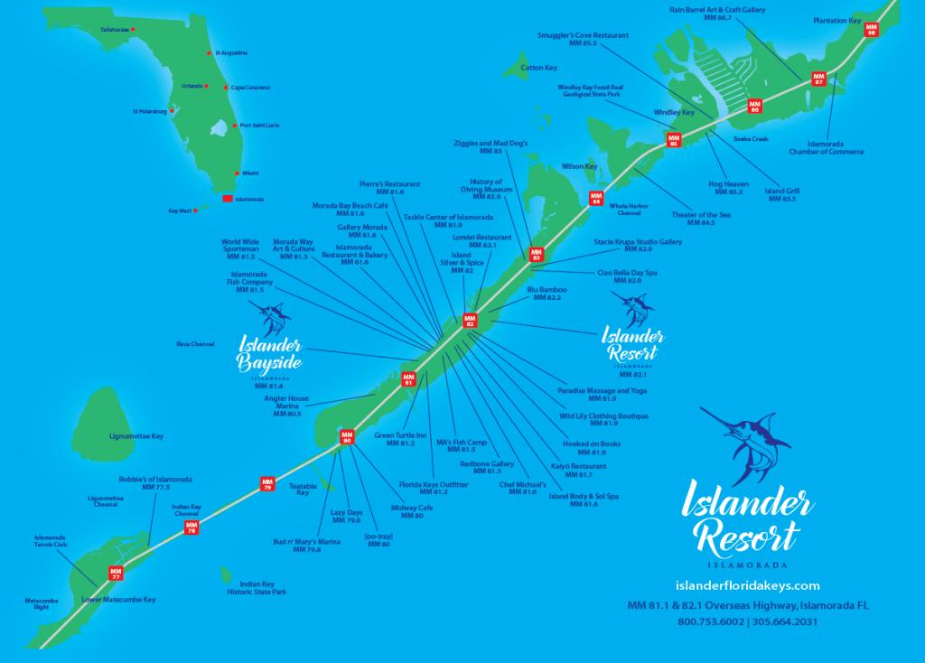 Islander Resort | Islamorada, Florida Keys - Florida Keys Islands Map
