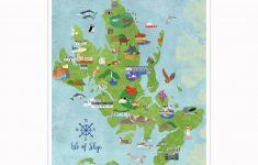 Isle Of Skye Illustrated Mapkate Mclelland Shop   Printable Map Skye