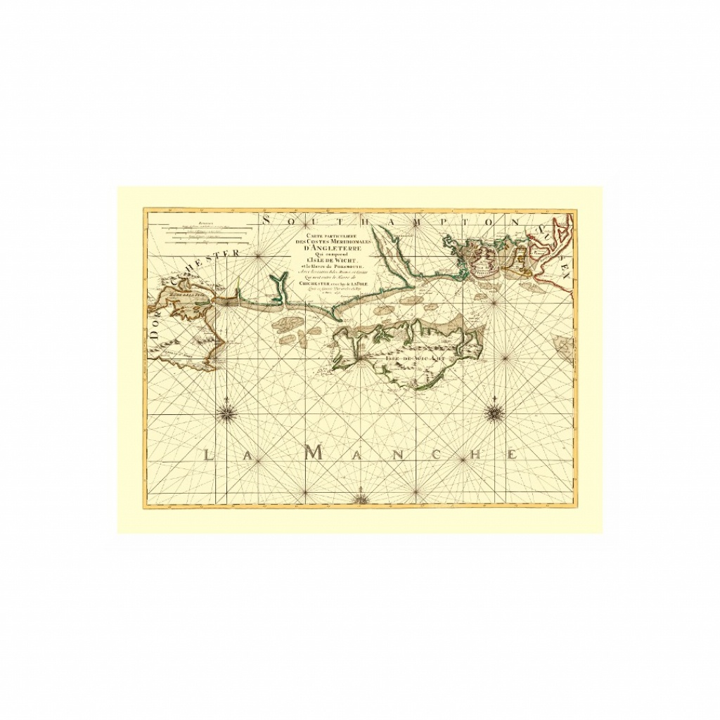 Isle Of Wight Old Nautical Map - Ancient Map Posters Printed On Canvas - Printable Map Of Isle Of Wight